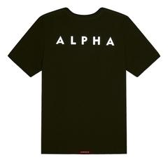 Футболка Alpha Industries Reflective Small Logo Black (Черная)