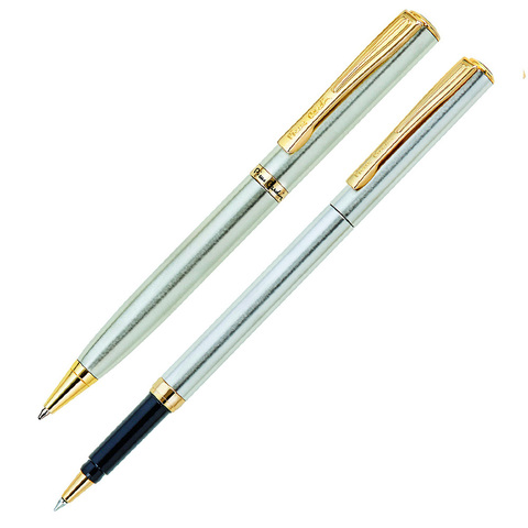 Набор подарочный Pierre Cardin Pen&Pen - Matte Steel GT, шариковая ручка + ручка-роллер, M