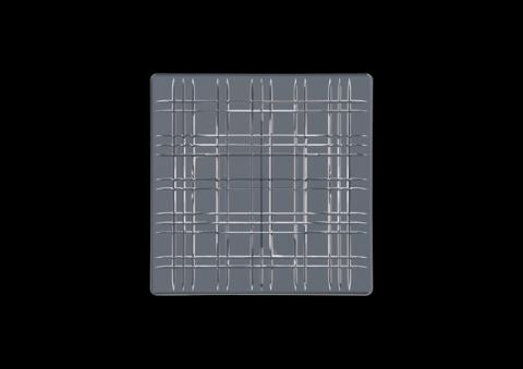 Набор из 2-х квадратных серых блюд, артикул 101450. Серия Square