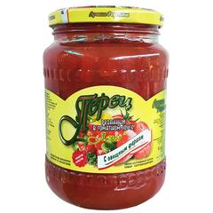 Перец резанный в томатном соусе