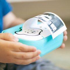 Детский фотоаппарат с печатью фото мишка розовый
