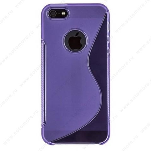 Накладка силиконовый для Apple iPhone SE/ 5s/ 5C/ 5 жесткий фиолетовый