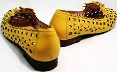 Модные женские туфли босоножки натуральная кожа Phany 103-28 Yellow.