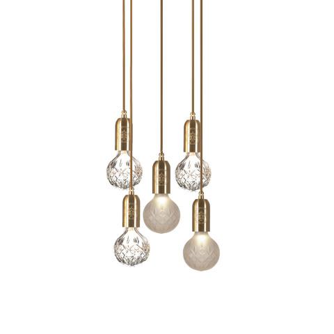 Подвесной светильник Crystal Bulb by Lee Broom (5 подвесов)