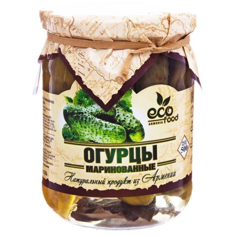 Огурцы маринованные Ecofood, 500г