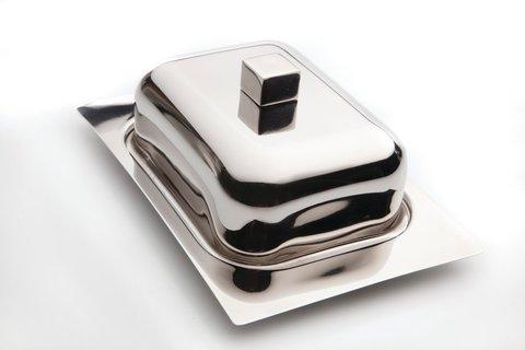 Масленка с металлической крышкой 18,5*12,5*7,5см Cubo