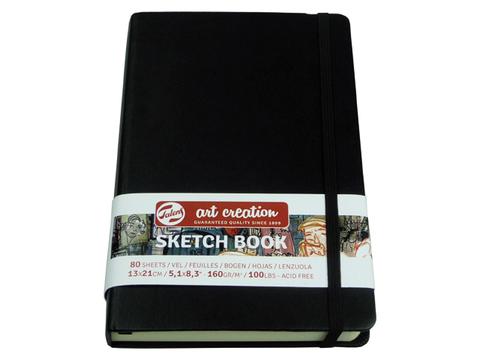 Скетчбук для смешанных техник Art Creation 160г/кв.м 9х14 см 80л твердая обложка черный