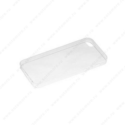 Накладка силиконовая для Apple iPhone SE/ 5s/ 5C/ 5 прозрачная