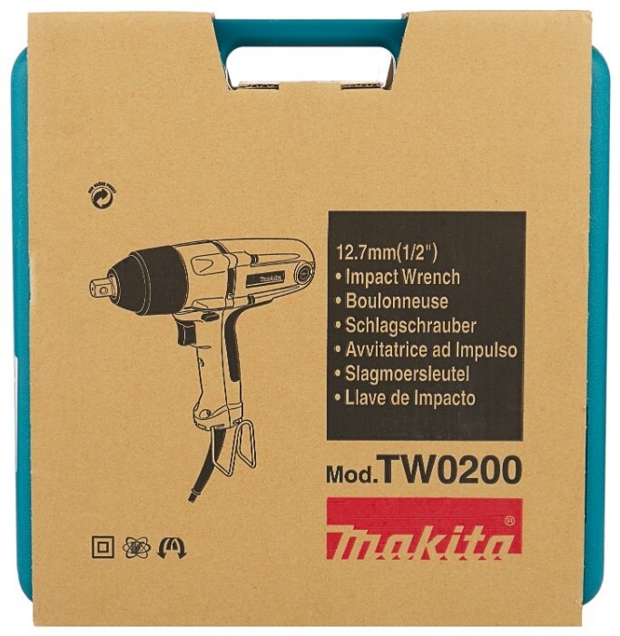 Гайковерт сетевой ударный 380Вт, 200Hm.Makita TW0200
