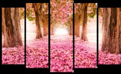 """Модульная картина """"Розовый сад"""""""