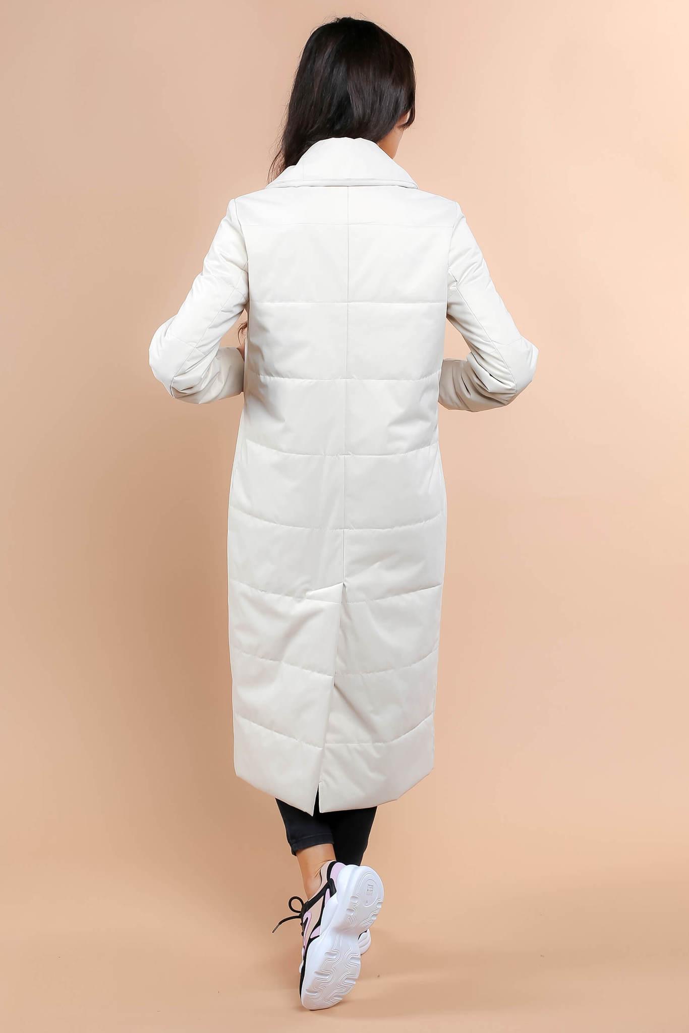 Стеганая куртка с ассиметричной застежкой