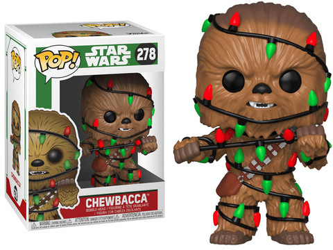 Фигурка Funko POP! Bobble: Star Wars: Holiday: Chewbacca w/Lights 33886