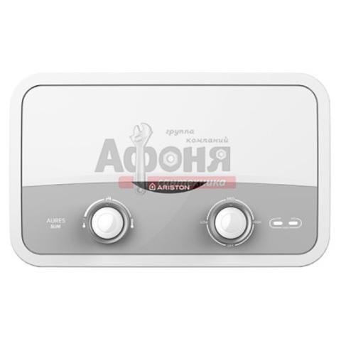 Водонагреватель проточного типа AURES SF 5.5 COM ARISTON душ/излив (настенный, плоский)