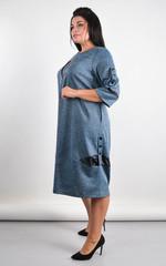 Дениз. Оригинальное платье для больших размеров. Синий.