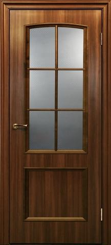 Дверь ДО 121 (тёмный ильм, остекленная лакированная), фабрика Краснодеревщик
