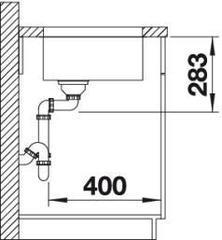 Мойка Blanco Supra 450-U с корзинчатым вентилем - вид сбоку