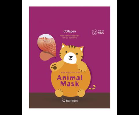 BERRISOM Animal Маска тканевая с морским коллагеном  Animal mask series - Cat