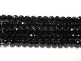 Нить Бисера из агата черного, шар граненый 3мм