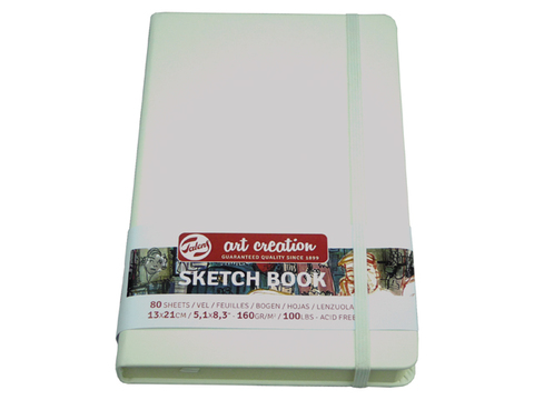 Скетчбук для смешанных техник Art Creation 160г/кв.м 13х21 см 80л твердая обложка белый