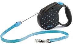 Поводок-рулетка Flexi Color  S (до 12 кг) трос 5 м голубая