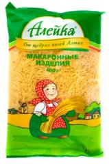 """Макаронные изделия """"Алейка"""" вермишель 400 г"""
