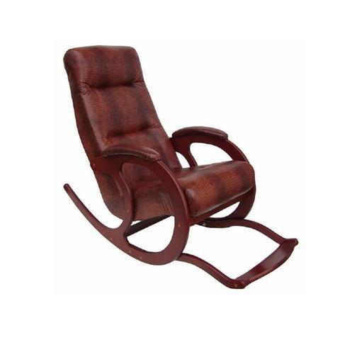 Кресло-качалка Блюз-5 с подножкой, МИ орех, крокодил