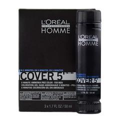 L`oreal Professionnel Homme Cover 5 №5 - Тонирующий гель (светлый шатен)
