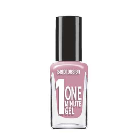 BelorDesign One Minute Gel Лак для ногтей тон 211 пыльная сирень 10мл