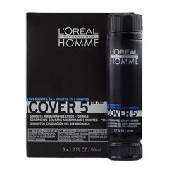 L`oreal Professionnel Homme Cover 5 №6 -Тонирующий гель (темный блондин)