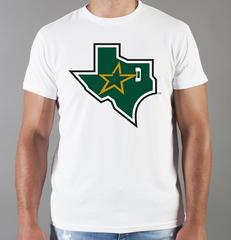 Футболка с принтом НХЛ Даллас Старз (NHL Dallas Stars) белая 002