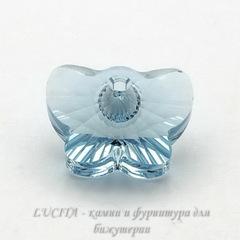 6754 Подвеска Сваровски Бабочка Aquamarine (18 мм)