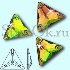 Стразы пришивные Triangle Vitrail Medium VM, Треугольник Витрайл Медиум ВМ, многоцветный
