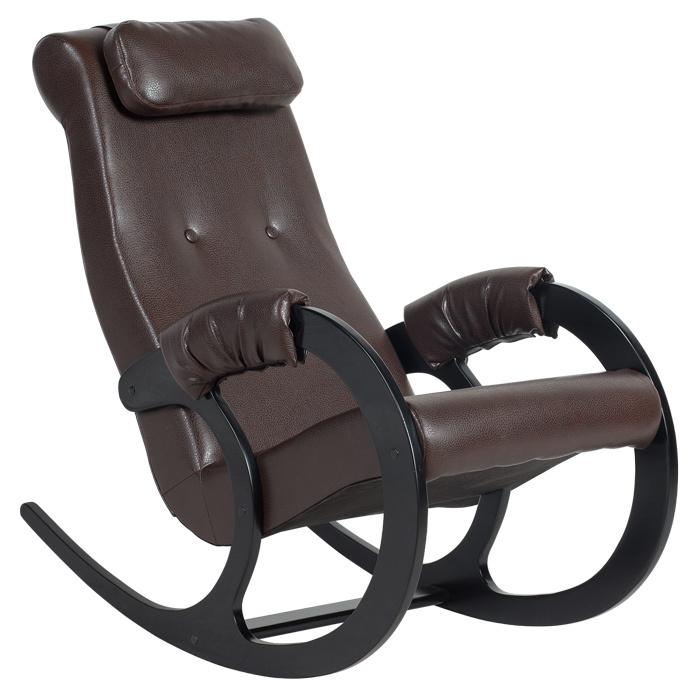 Классические Кресло-качалка Блюз Экокожа (Chocolate) bluz-chocolate-1.jpg
