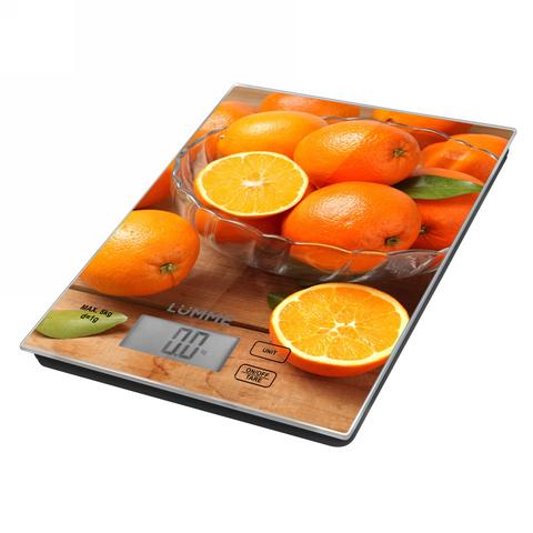 Весы кухонные сенсор LUMME LU-1342 апельсиновый фреш