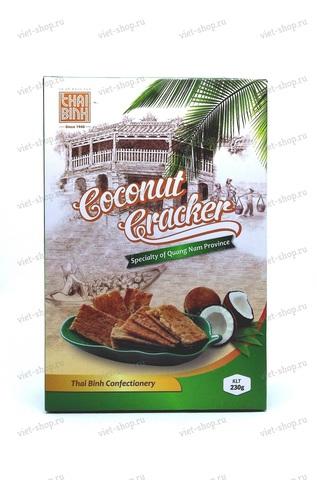 Вьетнамские кокосовые крекеры Thai Binh, 230 гр.