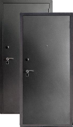 Дверь входная S-3 стальная, серебро, 2 замка, фабрика Арсенал