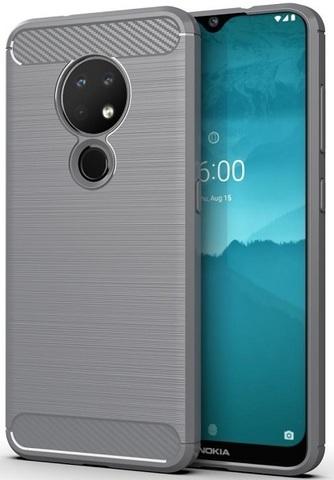 Чехол Nokia 6.2 (7.2) цвет Gray (серый), серия Carbon, Caseport