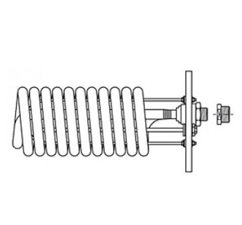 Stiebel Eltron WTW 21/13 - теплообменник для SB 302-402 AC, фланец 210 мм