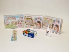 Комплект мебели для прихожей, детской и зала с набором для раскрашивания и клеем