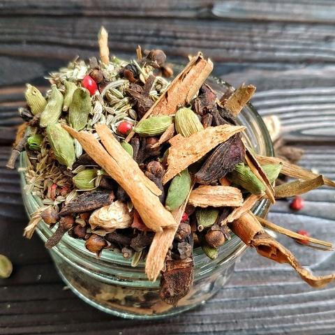 Фотография Приправа для чая Масала ручной сборки, 50 г. купить в магазине Афлора
