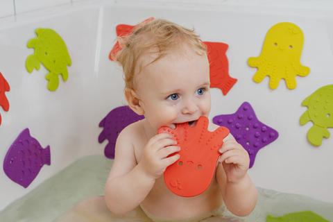 Антискользящие мини-коврики ROXY-KIDS для ванны. Набор 12шт.
