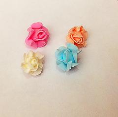 Роза из фоамирана раскрытая 3 см, 1 шт.
