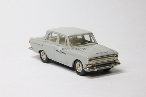Moskvich-408 Taxi gray Agat Mossar Tantal 1:43