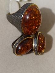 Цефея овал(кольцо + серьги из серебра)