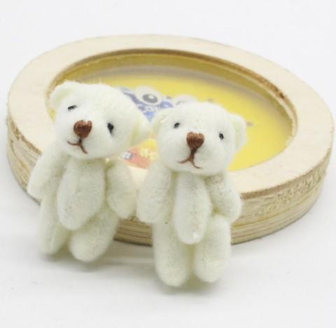 Игрушка для куклы 4 см - мишка белый маленький
