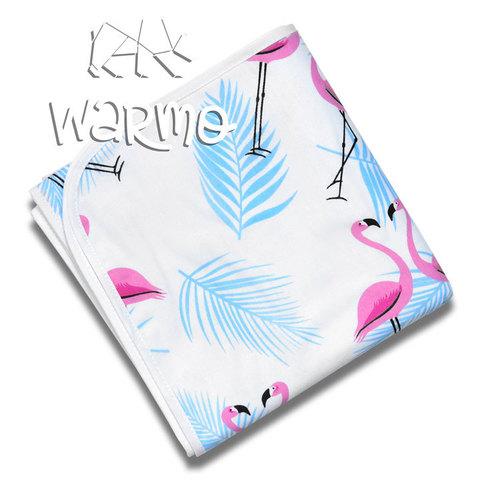 непромокальна пелюшка для дітей з малюнком з голубими фламінго фото