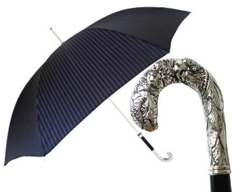 Pasotti мужской зонт трость Silver Eagle's Hook