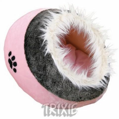 """Trixiе 36301 Лежак-пещера д/собак и кошек """"minou"""" розово/серый, плюш 41*42*26см"""