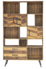Шкаф книжный Secret De Maison Ларго (LARGO) (mod. LAR L02-Н195) — brown recycled