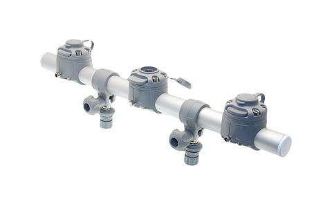 Тарга с тремя замками Gr500-3, 500 мм, серая
